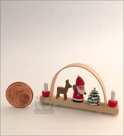 Schwibbogen mit Weihnachtsmann / 4,7 cm