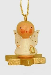 Engel auf goldenem Stern - Baumbehang
