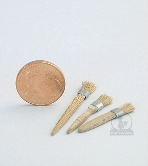 Flachpinsel / 3 Stück