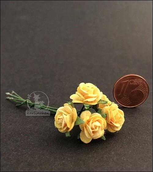 yellow roses, 5 pcs.