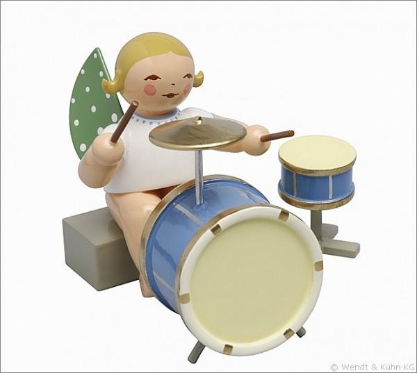 Engel mit zweiteiligem Schlagzeug, sitzend