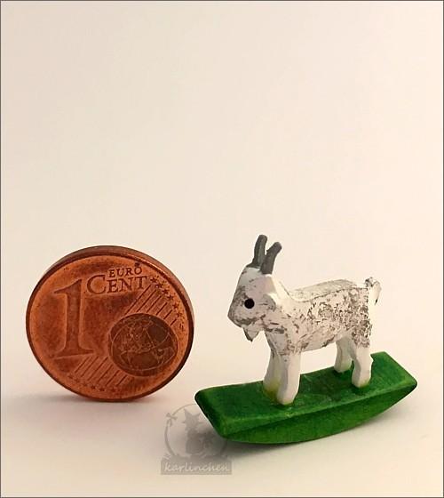 rocking animal goat, white