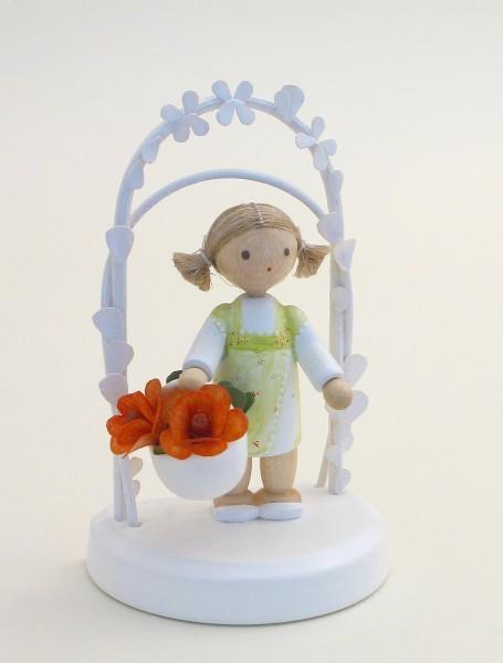Flade Figur Geburtstagskind mit Rosen