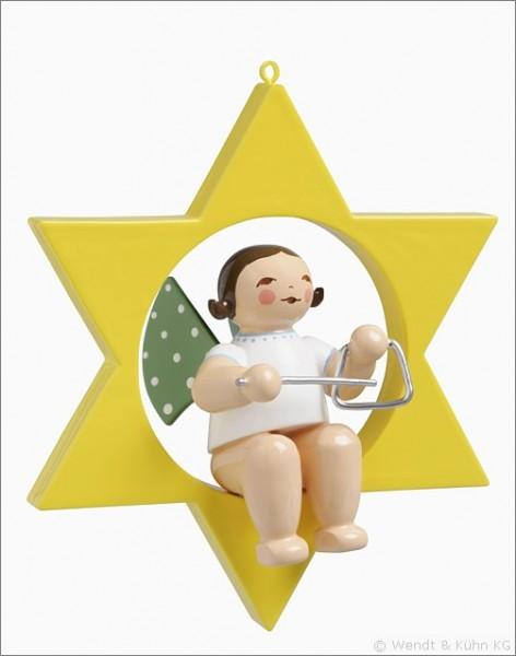 Engel mit Triangel im Stern / klein