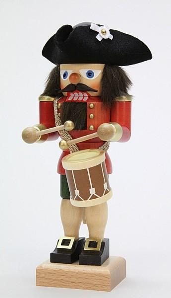 Nussknacker Trommler, rot / 25 cm