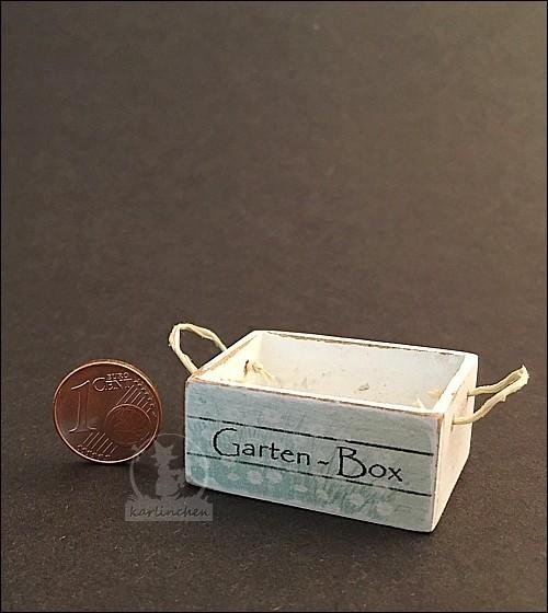Garten-Box, shabby/weiss