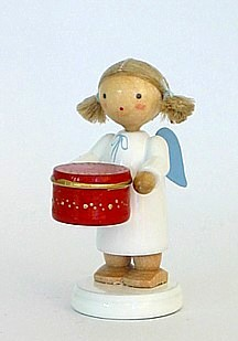 Angel with red candy box
