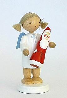 Engel mit Schokoladenweihnachtsmann