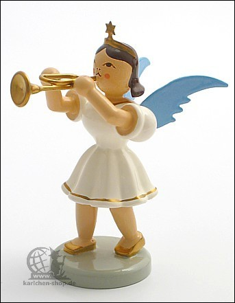 Angel with Trumpet, coloured
