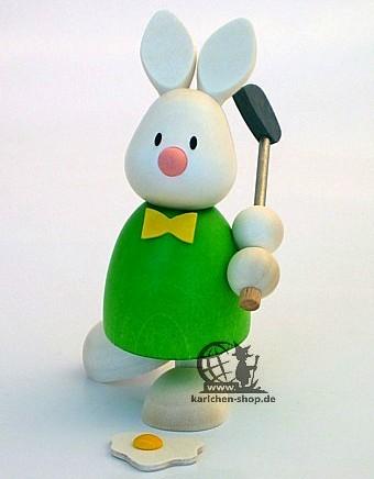 Kaninchen Max beim Golf - Abschlag