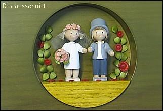 """figurine frame """"children's play wedding"""""""