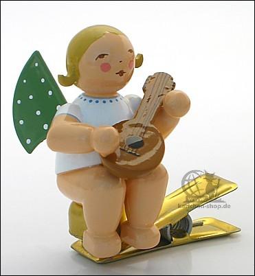 angel with mandolin on clip