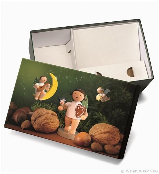 """Geschenkbox """"Lebkuchenengel"""", leer"""