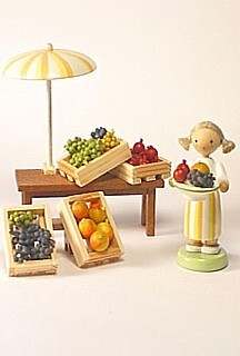 Obsthändlerin / 3-teilig