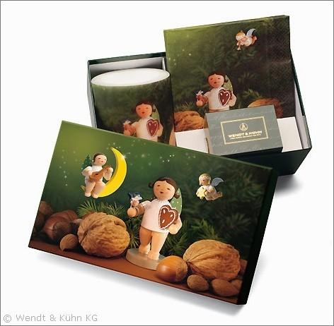 """Geschenkbox """"Lebkuchenengel"""", gefüllt"""