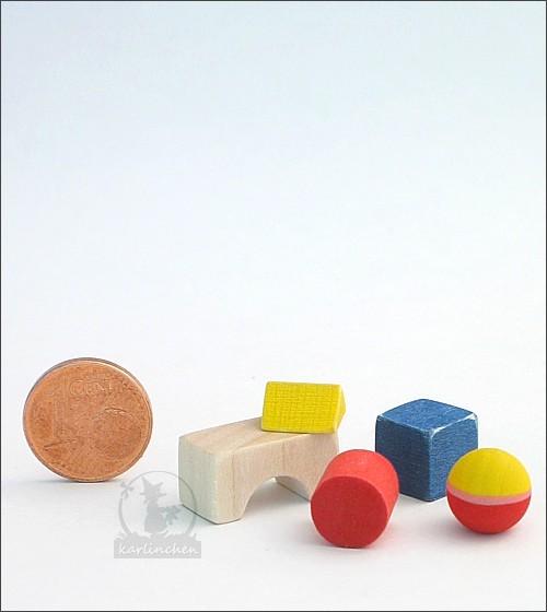 Miniatur Holzbausteine