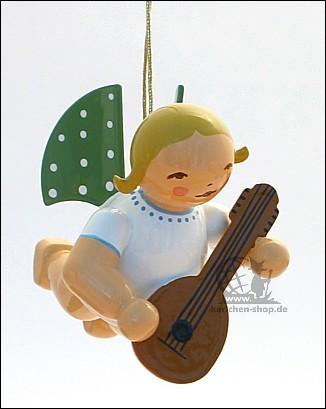 Engel mit Mandoline, schwebend