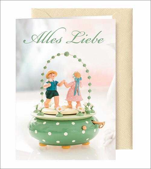 """Greeting Card """"Alles Liebe"""""""