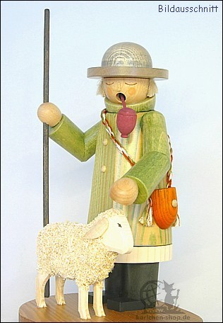 Hirte mit Schaf - Räuchermann
