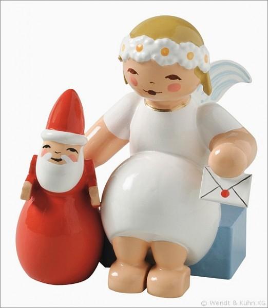 marguerite angel, sitting, with Santa Claus