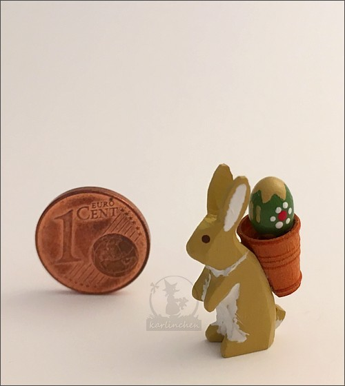 Easter bunny with pannier / 2,5 cm