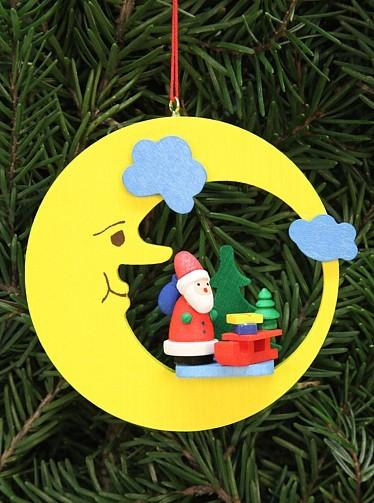 Weihnachtsmann im Mond - Baumbehang