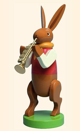 Hase mit Trompete