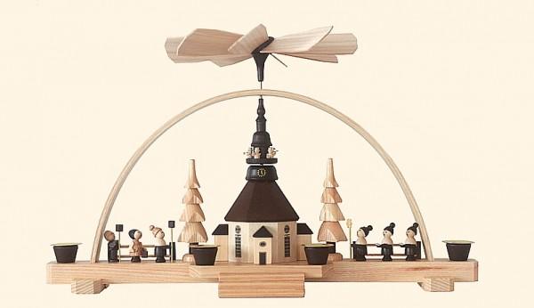 Bogenpyramide mit Seiffener Kirche