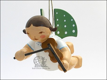 Angel with violin, suspended