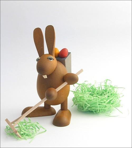 Easter Bunny with rake