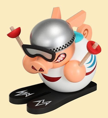 Pig on skis - Incense Smoker / for the last time in the range