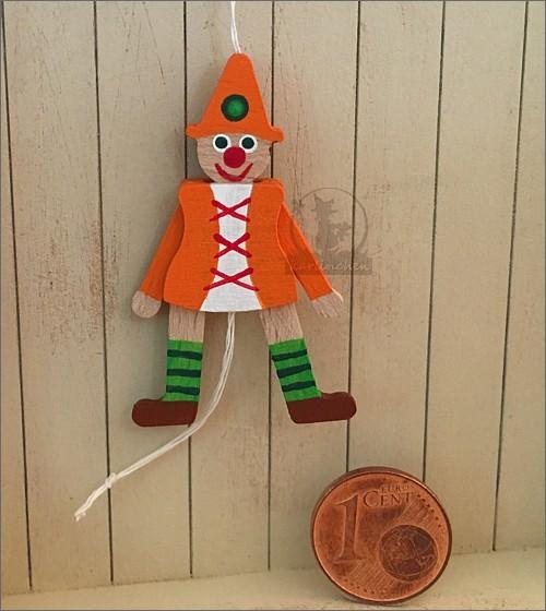 Hampelmann beweglich, orange / 4 cm
