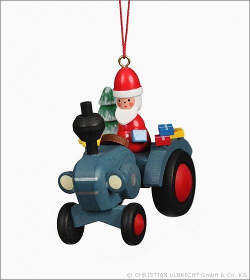 Traktor mit Weihnachtsmann - Baumbehang