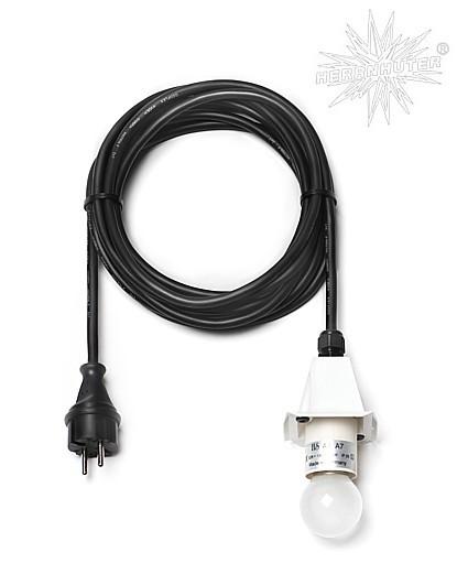 Kabel für Kunststoffstern / 5 m, weiss