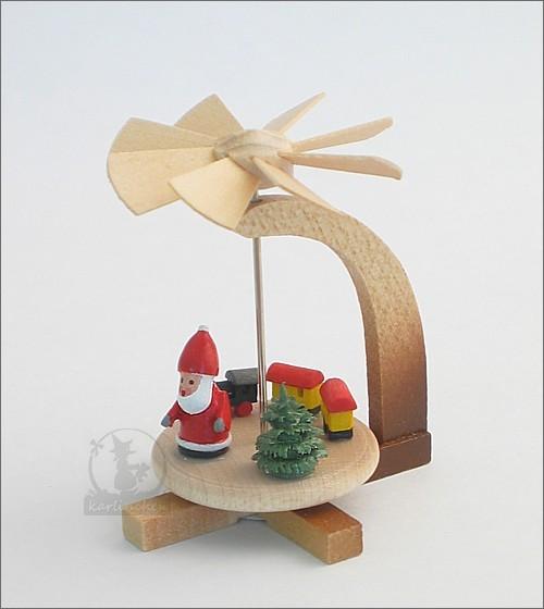 Miniatur-Pyramide Weihnachtsmann, natur / 5 cm