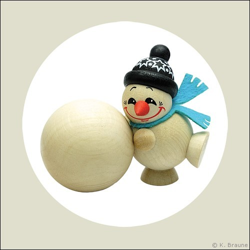 Cool Man with big snow globe