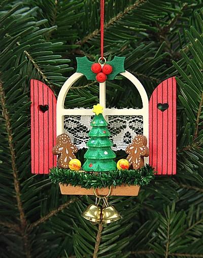 Adventsfenster mit Lebkuchen - Baumbehang
