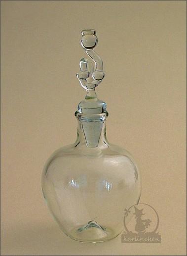 Miniatur Gärballon aus Glas