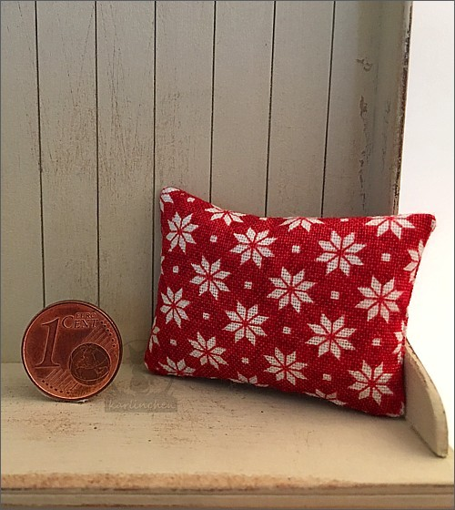 pillow, red with stars