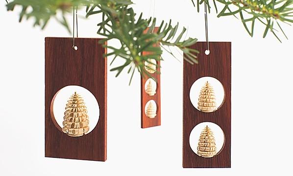 1-2-3 Christmas tree decoration / 3 pieces