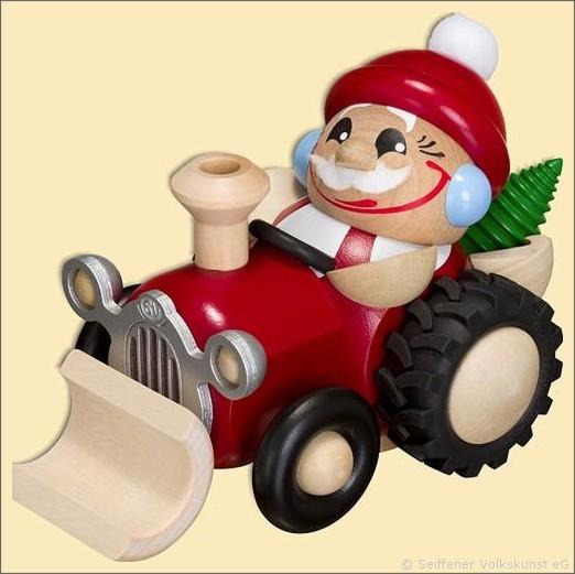 Nikolaus im Traktor - Räuchermann