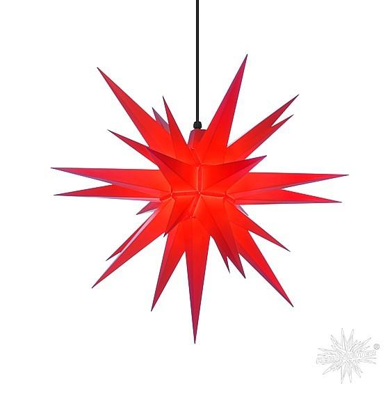 Herrnhuter® Stern Kunststoff für innen und aussen / rot
