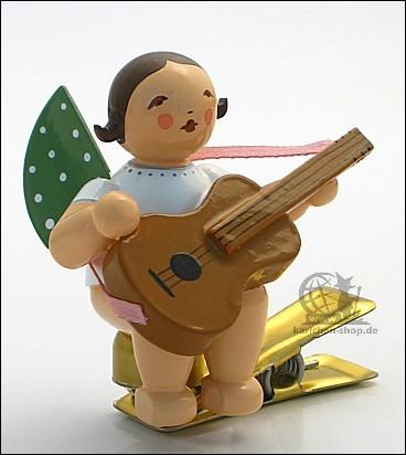 Engel auf Klemme mit Gitarre