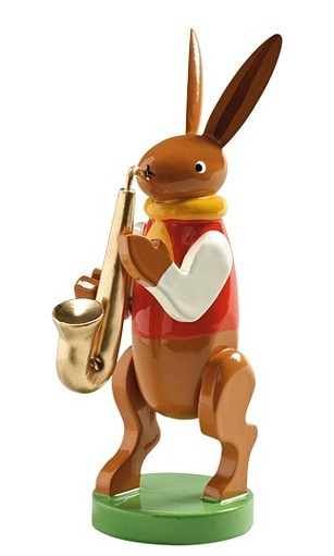 bunny musician with saxophone