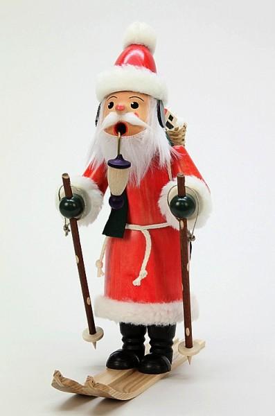 Weihnachtsmann auf Ski - Räuchermann