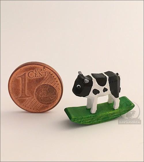 rocking animal cow, black-and-white