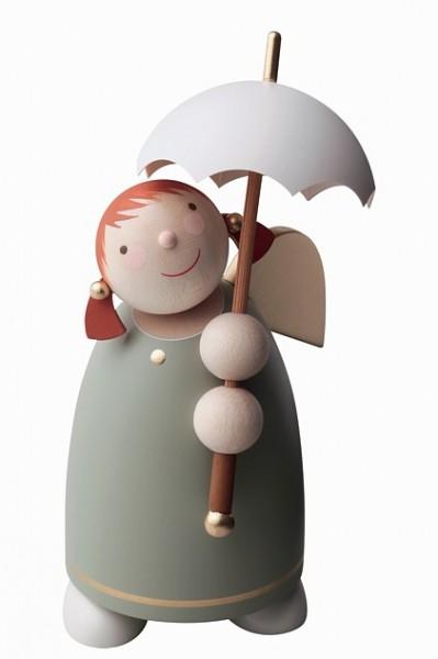 Schutzengel mit Schirm / grün