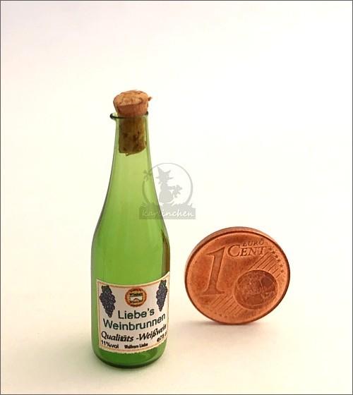 Miniatur Weinflasche aus Glas