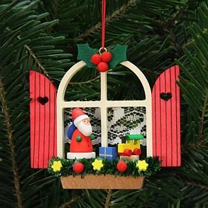 Adventsfenster mit Nikolaus - Baumbehang