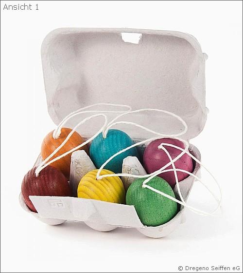 6 Ostereier im Eierkarton - Baumbehang